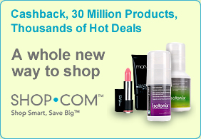 Get Cash Back on all your purchases through Shop.com