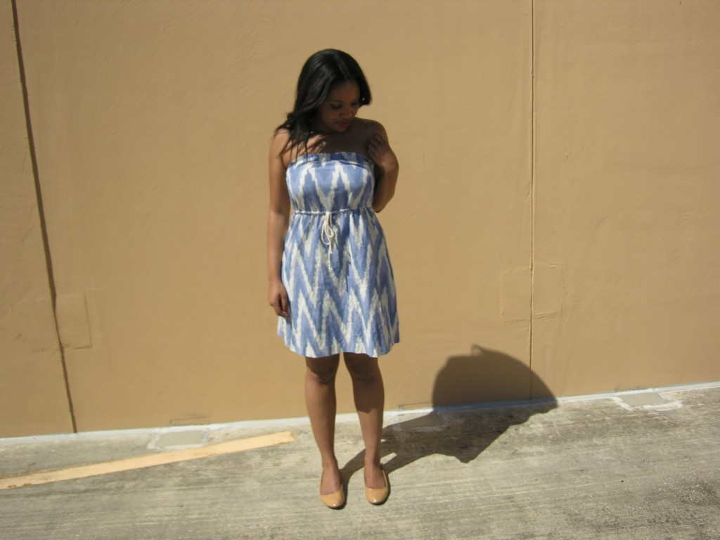 GAP ikat strapless dress (5)