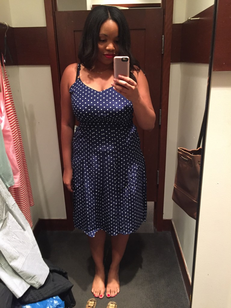 J.Crew SPAGHETTI-STRAP DRESS IN POLKA DOT